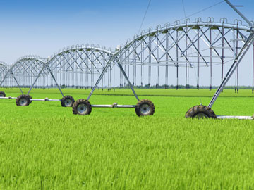 Agricultural farm watering system in a field