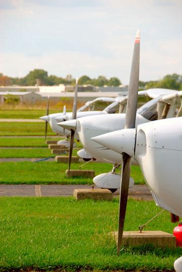 Airplanes on runway