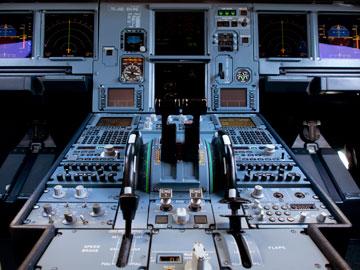 view of cockpit inside a plane